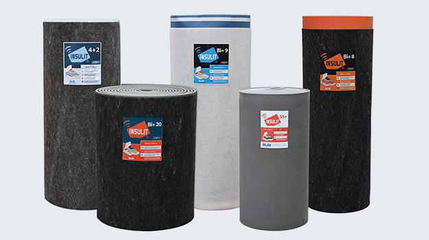 Gamme de produits d'isolation acoustique des sols insulit