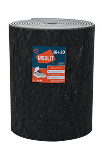 insulit Bi+20 thermal and acoustic underlay for floating screed