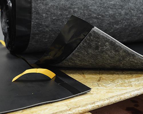insulWood, die akustische Unterlage für Holzböden gegen Tritt- und Luftschall